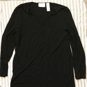 Liz Claiborne shiny stretchy long sleeve shirt